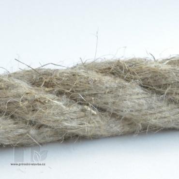 Přírodní těsnící lano pro spáry v roubenkách a srubech průměr 30 mm / balení 80bm