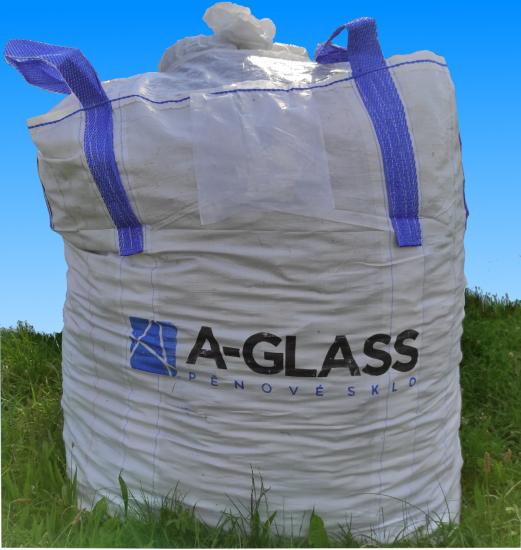 Pěnové sklo - izolace z recyklovaného skla - drť / štěrk big bag 1.25 m3 / frakce 0 - 63 mm
